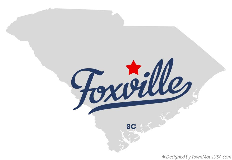 Map of Foxville South Carolina SC