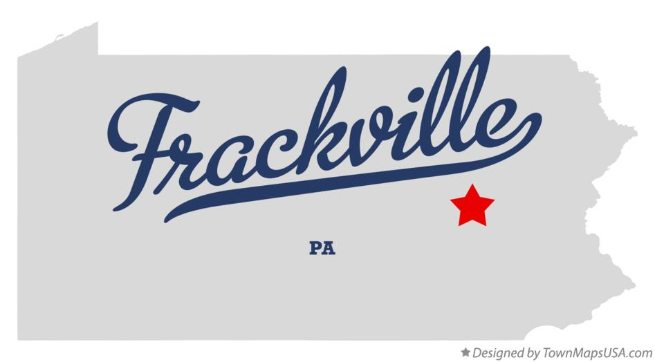 Map of Frackville Pennsylvania PA