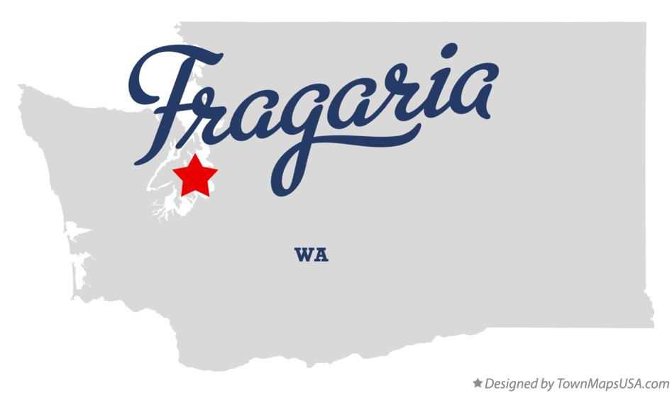 Map of Fragaria Washington WA