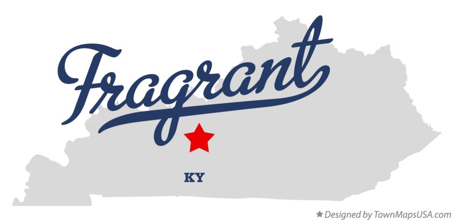 Map of Fragrant Kentucky KY