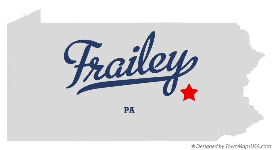 Map of Frailey Pennsylvania PA