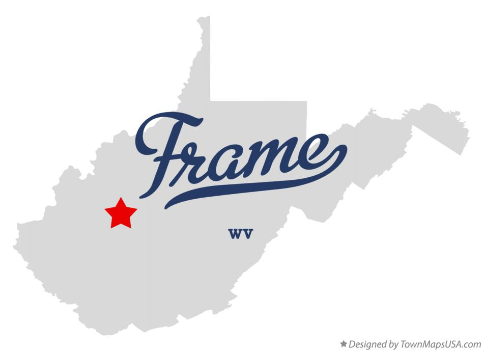Map of Frame West Virginia WV