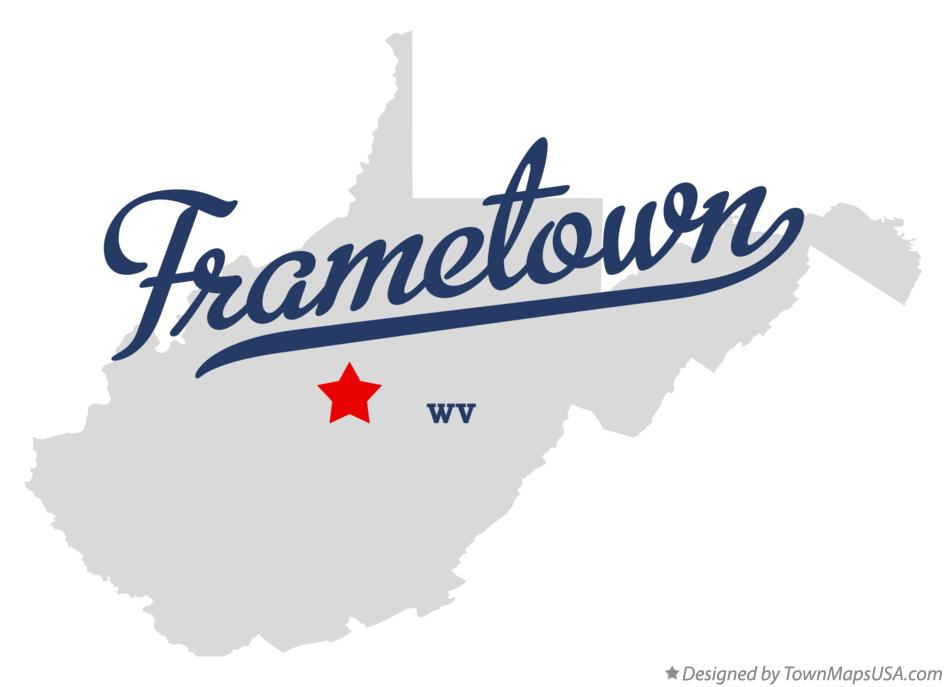 Map of Frametown West Virginia WV