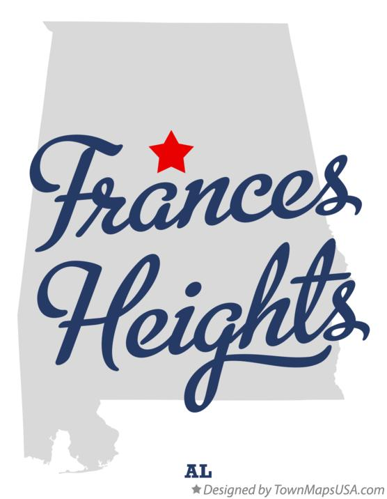 Map of Frances Heights Alabama AL
