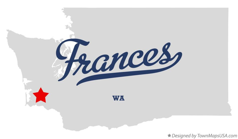 Map of Frances Washington WA