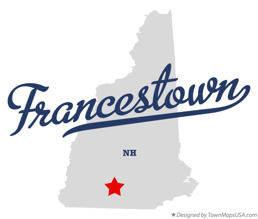 Map of Francestown New Hampshire NH