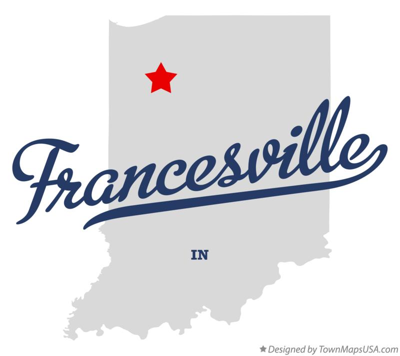 Map of Francesville Indiana IN