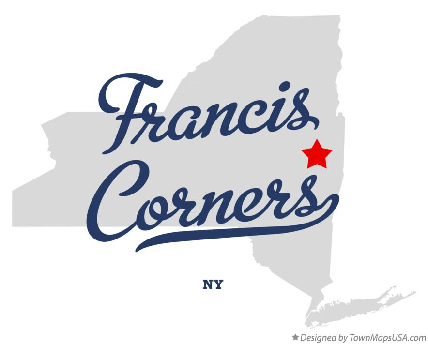 Map of Francis Corners New York NY