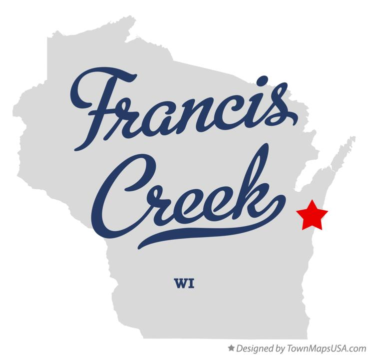 Map of Francis Creek Wisconsin WI