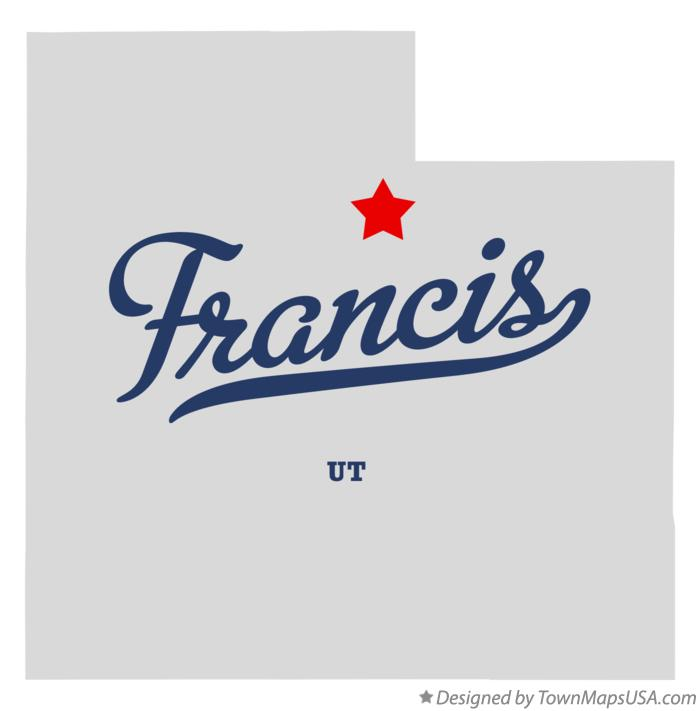 Map of Francis Utah UT