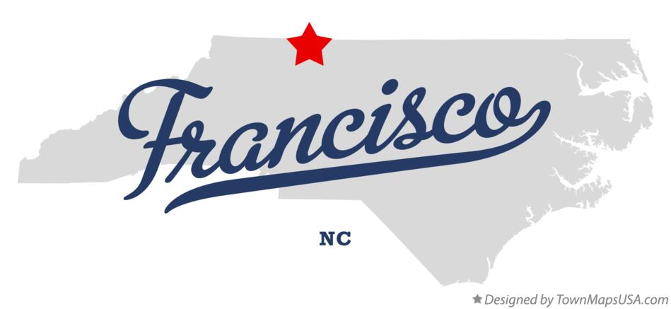 Map of Francisco North Carolina NC