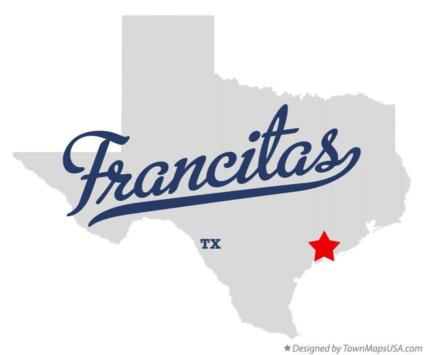 Map of Francitas Texas TX