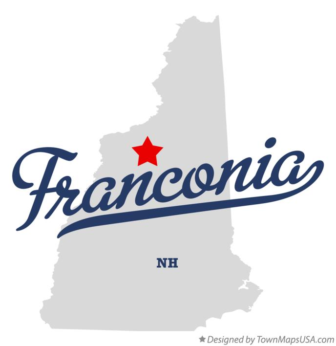 Map of Franconia New Hampshire NH