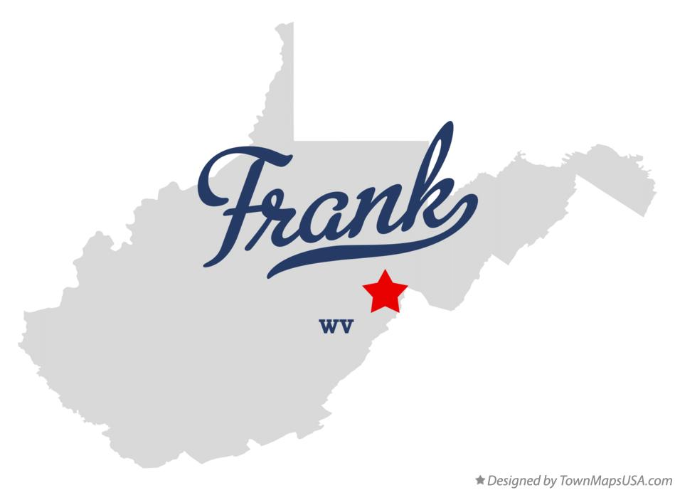 Map of Frank West Virginia WV