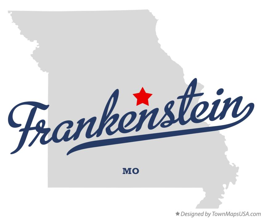 Map of Frankenstein Missouri MO