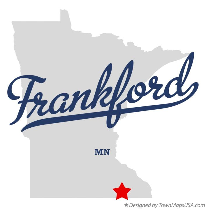 Map of Frankford Minnesota MN