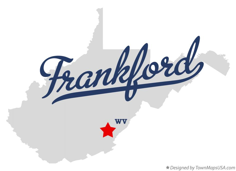 Map of Frankford West Virginia WV