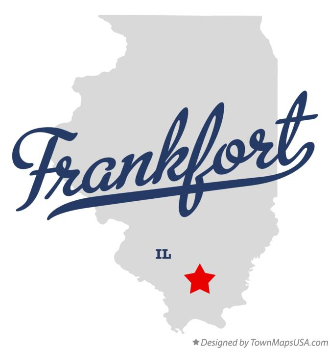 Map of Frankfort Illinois IL