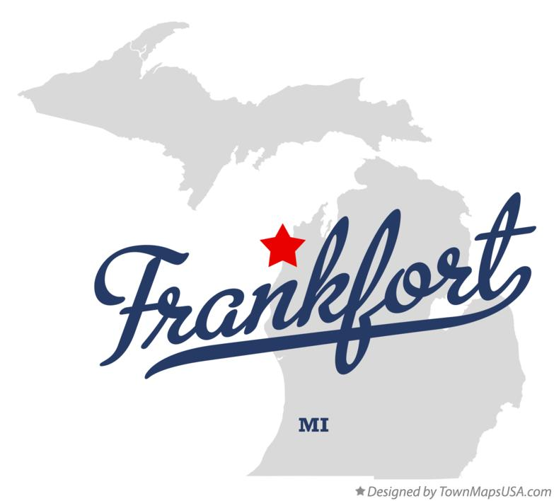 Map of Frankfort, MI, Michigan