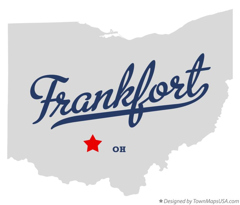 Map of Frankfort Ohio OH