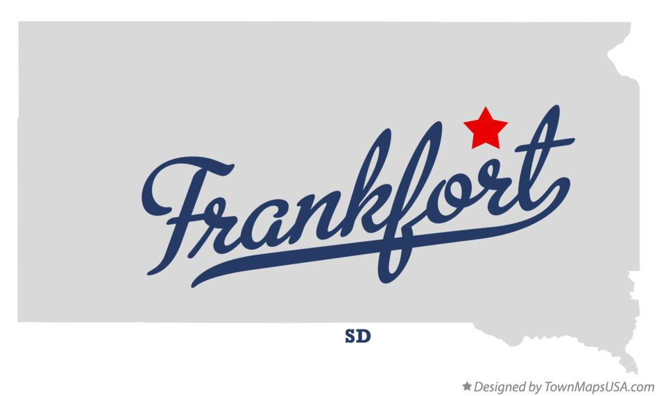 Map of Frankfort South Dakota SD