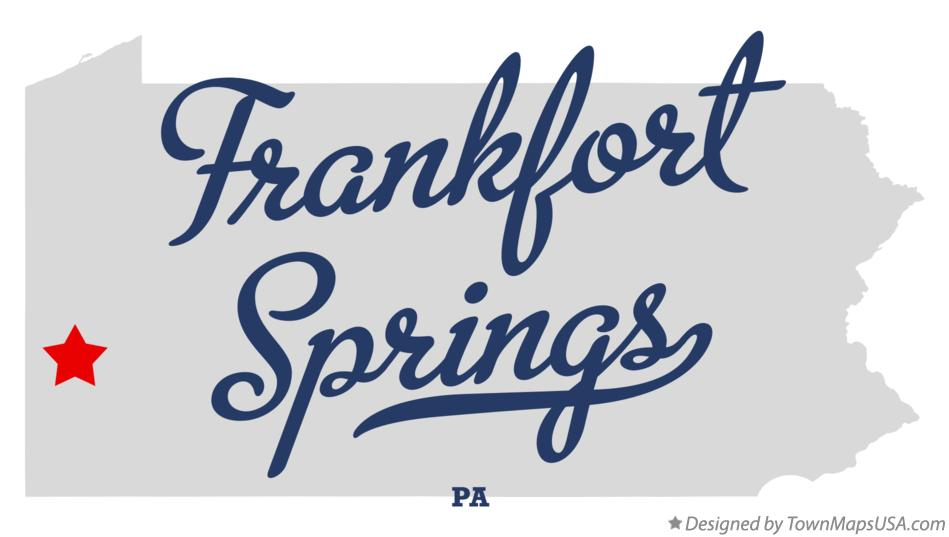 Map of Frankfort Springs Pennsylvania PA
