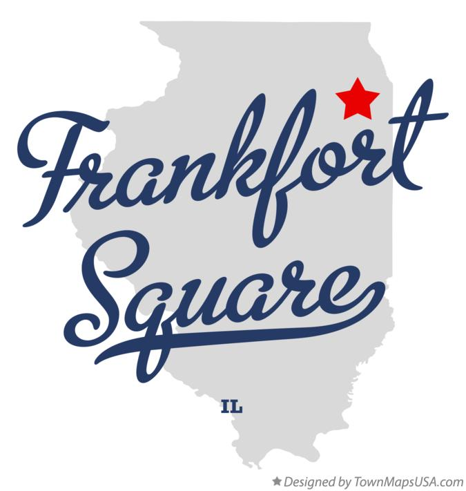 Map of Frankfort Square Illinois IL