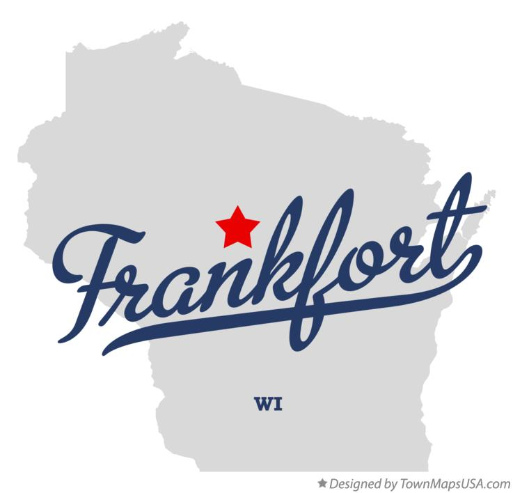 Map of Frankfort Wisconsin WI