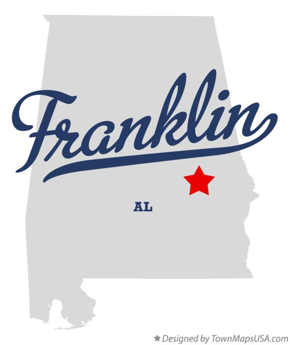 Map of Franklin Alabama AL