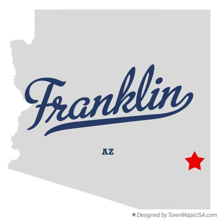 Map of Franklin Arizona AZ