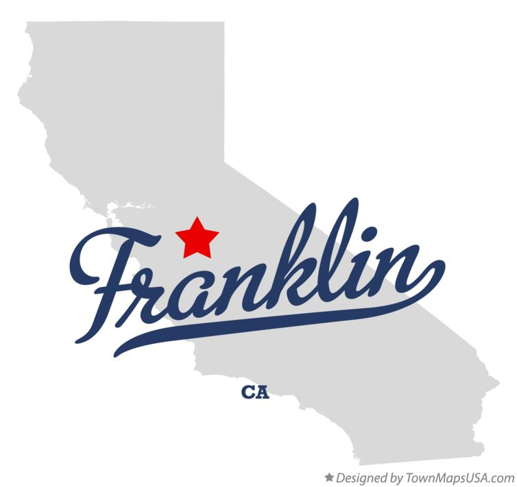 Map of Franklin California CA