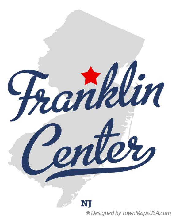 Map of Franklin Center New Jersey NJ