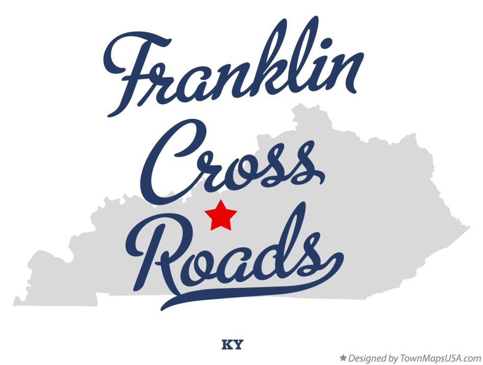 Map of Franklin Cross Roads Kentucky KY