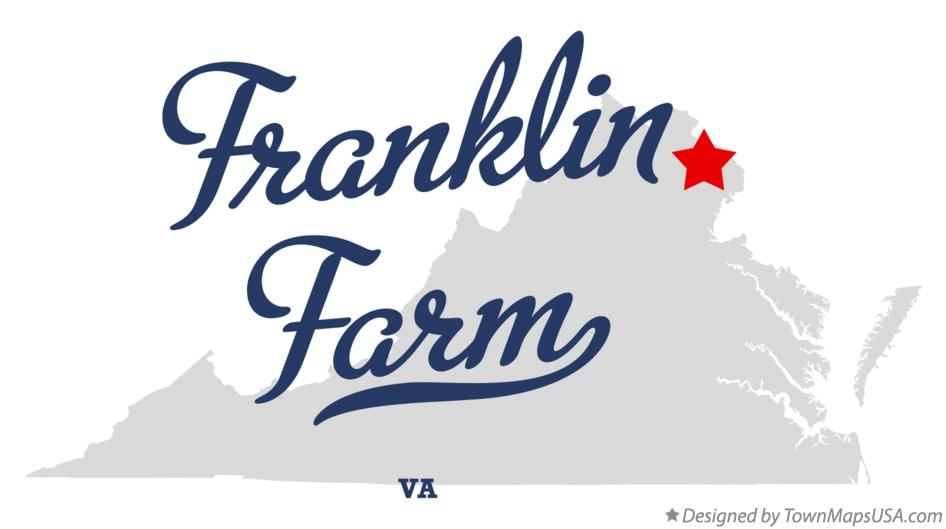 Map of Franklin Farm Virginia VA