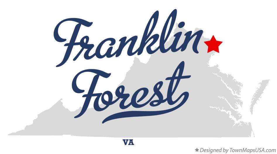 Map of Franklin Forest Virginia VA