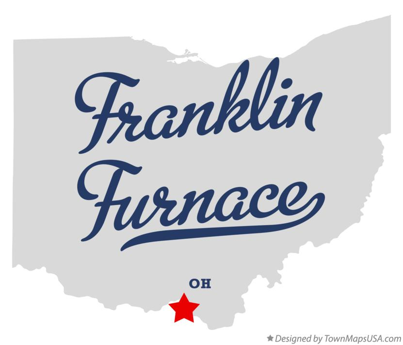 Map of Franklin Furnace Ohio OH