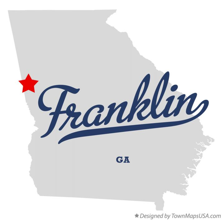 Map of Franklin Georgia GA