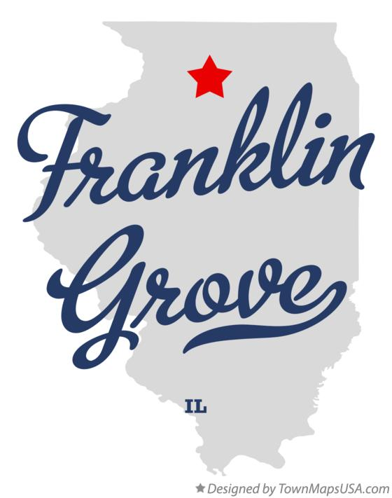 Map of Franklin Grove Illinois IL