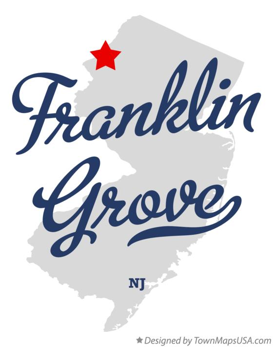 Map of Franklin Grove New Jersey NJ