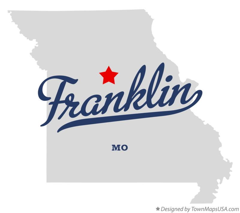 Map of Franklin Missouri MO
