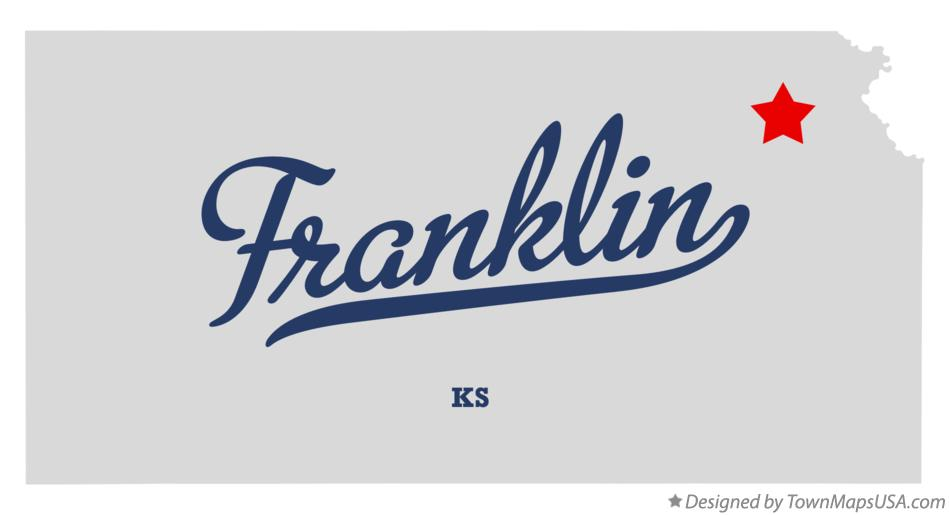Map of Franklin Kansas KS