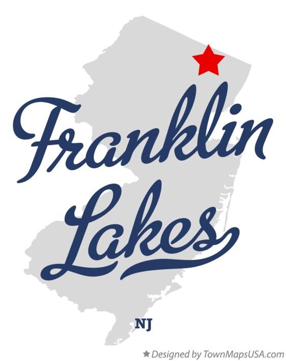 Map of Franklin Lakes New Jersey NJ
