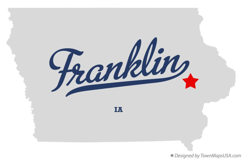 Map of Franklin Iowa IA