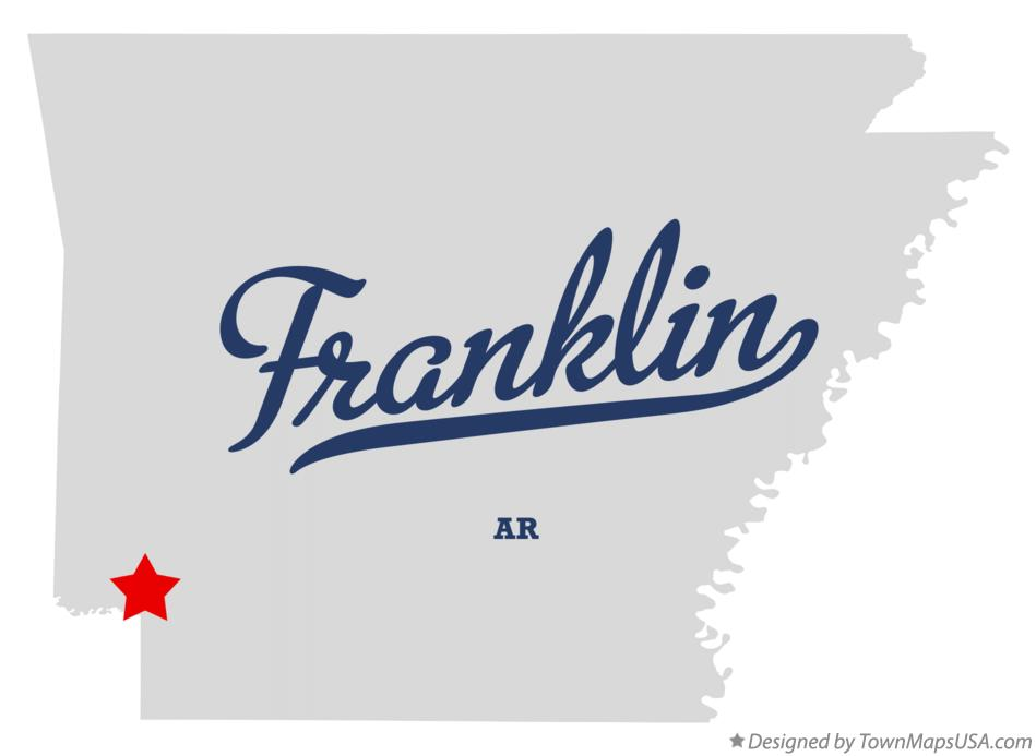Map of Franklin Arkansas AR