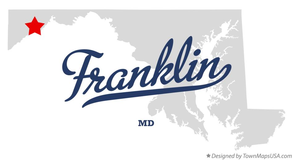 Map of Franklin Maryland MD