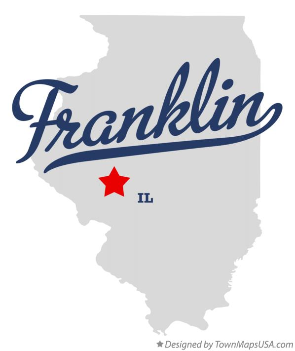 Map of Franklin Illinois IL