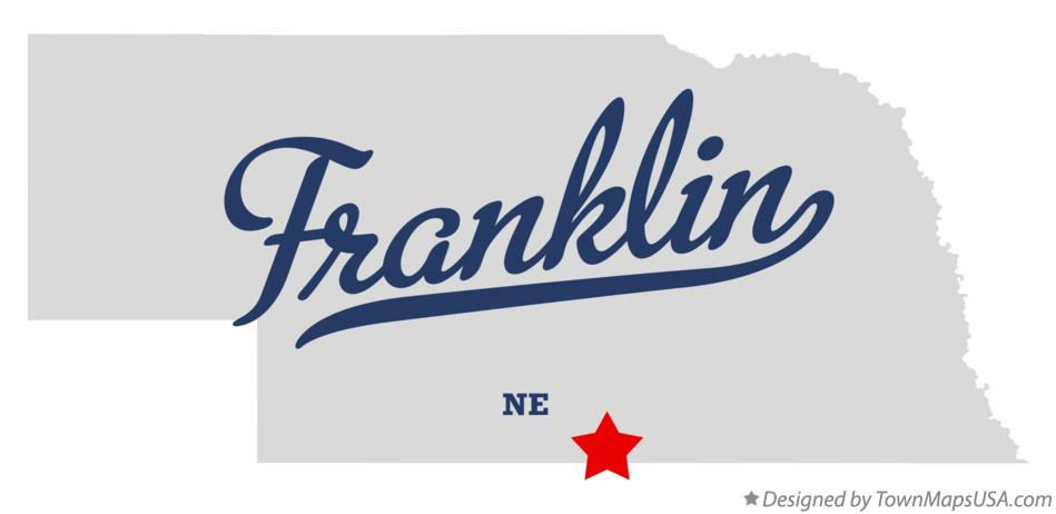 Map of Franklin Nebraska NE
