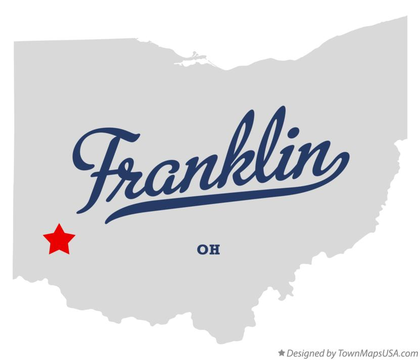 Map Of Franklin Warren County Oh Ohio