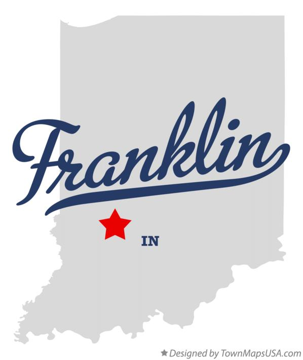 Map of Franklin Indiana IN