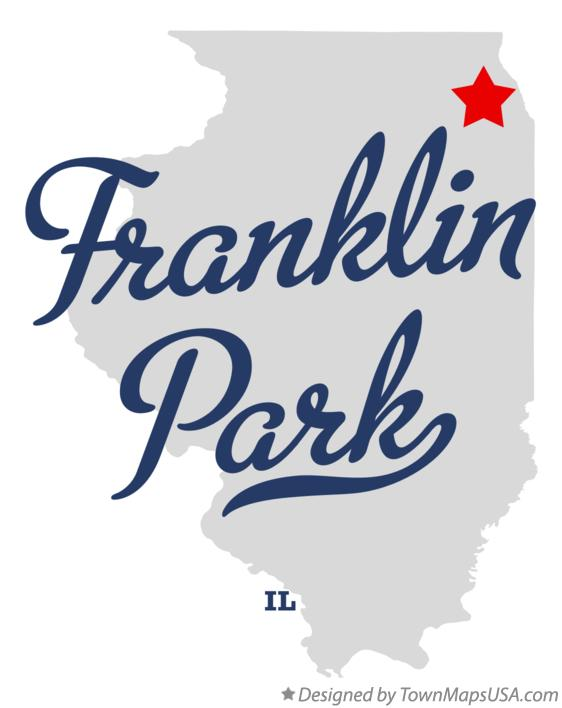 Map of Franklin Park Illinois IL